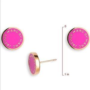 MARC JACOBS Enamel Logo Disc Earrings